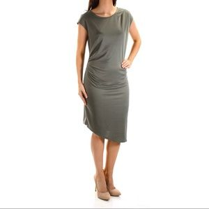 Bar ||| Gathered Jewel Neck Sheath Dress NEW
